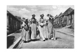 A Street Scene at Vieuxfort, St Lucia, Early 20th Century Giclee Print