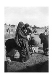 Women Collecting Water at on the Tigris River, Baghdad, Iraq, 1917-1919 Giclee Print
