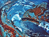 Infrared Photograph of Niagara Falls Taken from NASA Earth Survey 2 Aircraft Photographic Print