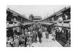A Row of Shops in Asakusa, Tokyo, 20th Century Giclee Print
