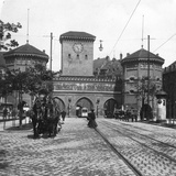 Isartor (Isar Gat), Munich, Germany, C1900s Photographic Print by  Wurthle & Sons