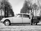 Model with a 1957 Citroën Id 19, C1957 Photographic Print