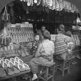 Japanese Shoe Shop, Early 20th Century Photographic Print