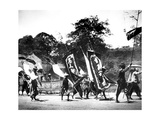 Flag Carriers, Singapore, 1900 Giclee Print