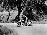 A Man on a Norton Bike Taking Part in the Belgian Grand Prix, 1924 Photographic Print