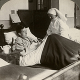 A Soldier Writing a Letter in Hospital, World War I, 1914-1918 Photographic Print