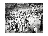 Outdoor Gathering, Korea, 1900 Giclee Print