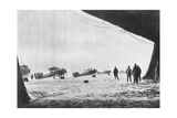 Departure of French Breguet Planes for a Reconnaissance Mission During Winter, 1914-1918 Giclee Print