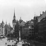 Marienplatz, Munich, Germany, C1900 Photographic Print by  Wurthle & Sons