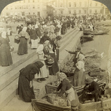 Market Boats, Helsinki, Finland Photographic Print by  Underwood & Underwood