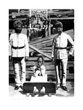 A Coolie in the Stocks, Hong Kong, 1908 Giclee Print