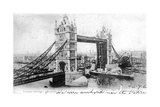 Tower Bridge, London, 1903 Giclee Print by  Valentine