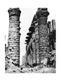 Colonnade, Hypostyle Hall, Egypt, 1878 Giclee Print by Felix Bonfils