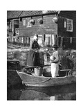 Greengrocer Bringing Goods by Boat, Marken, Holland, 1936 Giclee Print by Donald Mcleish