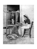 Woman Weaving with Straw on a Hand Loom, Fiesole, Near Florence, Italy, 1936 Giclee Print by Donald Mcleish
