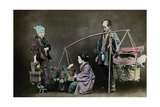 Vegetable Pedlar, Japan, 1882 Giclee Print by Felice Beato