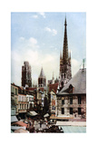 Rouen Cathedral, Normandy, France, C1930S Giclee Print by Donald Mcleish