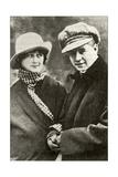 Sergei Yesenin with His Wife Isadora Duncan, 1923 Giclee Print