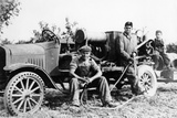 Farmworkers with a Tractor, (C1930S) Photographic Print