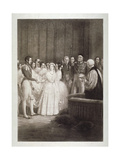 Marriage of Queen Victoria and Prince Albert, St James's Palace, Westminster, London, 1840 Giclee Print by George Hayter