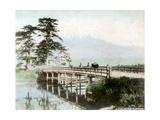 Fujiyama from Yoshiwara, Japan Giclee Print