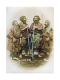 Group of Ainu People, Japan, 1882 Giclee Print by Felice Beato