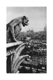 Stone Demon, Notre Dame, Paris, France, C1930S Giclee Print by Donald Mcleish