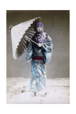 Museme, Woman in Winter Costume, Japan, 1882 Giclee Print by Felice Beato