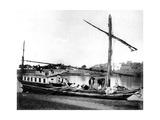 Boat on the Nile, Egypt, 1878 Giclee Print by Felix Bonfils