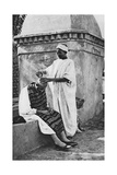 A Street Barber and His Client, Algeria, Africa, 1922 Giclee Print by Donald Mcleish