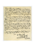 Letter from Daniel Defoe to Charles Montague, 1705 Giclee Print by Daniel Defoe