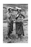 Lisum Women of Central Borneo, 1922 Giclee Print by Charles Hose