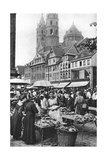 The Market Place at Worms Cathedral, Worms, Germany, 1922 Giclee Print by Donald Mcleish