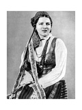 Lithuanian Woman in Traditional Dress, 1936 Giclee Print by Geoffrey Portham