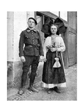 Couple in Traditional Dress, Alsace-Lorraine, Rhine, 1936 Giclee Print by Donald Mcleish