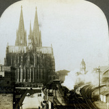 Cologne Cathedral from a Railway Bridge, Cologne, Germany Photographic Print by EW Kelley