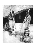 Newar Women Pounding Grain, Nepal, 1936 Giclee Print by Ewing Galloway