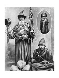 Tibetan Priests, 1936 Giclee Print by Ewing Galloway