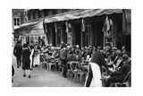 People at a Well-Known Parisian Pavement Cafe, 1931 Giclee Print by Ernest Flammarion