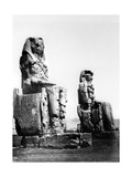 The Colossi of Memnon, Thebes, Nubia, Egypt, 1878 Giclee Print by Felix Bonfils