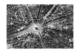 A Bird's Eye View of the Place De L'Etoile and the Arc De Triomphe, Paris, 1931 Giclee Print by Ernest Flammarion