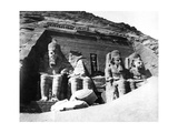 The Temple of Abu Simbel, Nubia, Egypt, 1878 Giclee Print by Felix Bonfils