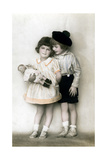 A Young Girl and Boy, Early 20th Century Giclee Print