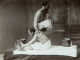 The Oriental Bath. Massage, 1880s Photographic Print by Dmitri Ivanovich Yermakov