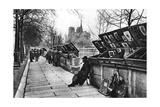 Book Stalls Along the Quays, Paris, 1931 Giclée-tryk af Ernest Flammarion