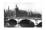 View of the Courts of Justice and the Pont Neuf from the River Seine, Paris, 1931 Giclee Print by Ernest Flammarion