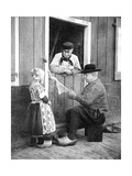 Dutch People Wearing Clogs, Marken, Holland, 1936 Giclee Print by Donald Mcleish