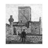 Ruins of the Cathedral and St Martin's Cross, Iona, Argyll and Bute, Scotland, Late 19th Century Giclee Print by George Washington Wilson