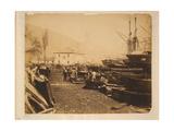 The Ordnance Wharf, Balaklava, 1855 Giclee Print by Roger Fenton