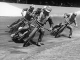 Speedway Race at Exeter, Devon, C1952-C1953 Papier Photo